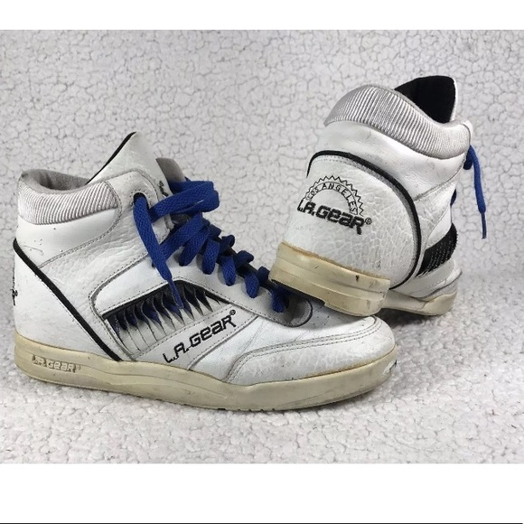 6981cb4aaf6d4 LA Gear Shoes | High Top Womens Sneakers Vintage | Poshmark